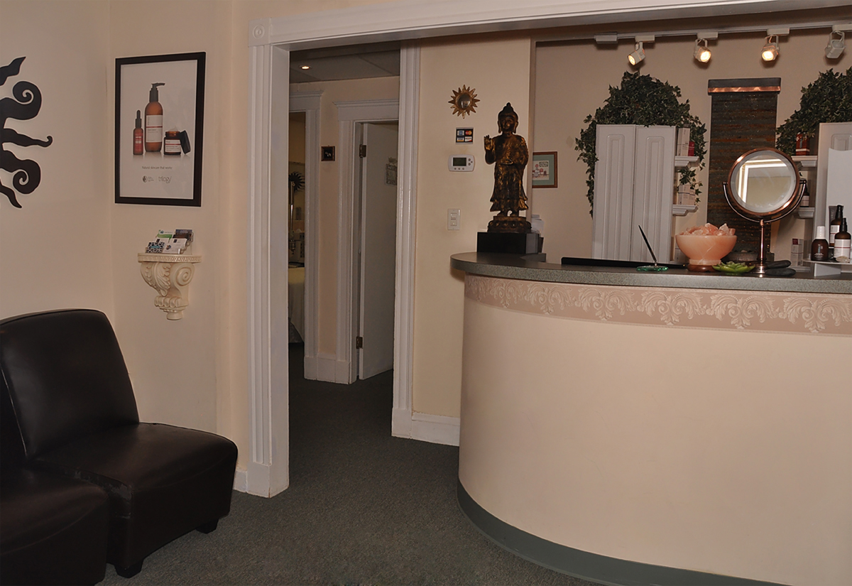 view the inside of our massage and skincare day spa in neton centre
